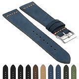 DASSARI Belize Nubuck Suede Watch Band Strap in 18mm 20mm 22mm 24mm