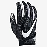 Nike Mens Superbad Football Glove Black Medium