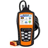"NEXPEAK OBD2 Scanner Orange-Black Color Display with Battery Test Function, 2.8"" Car Diagnostic Scan Tool Vehicle Check Engine Light Analyzer"