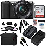 Sony a5100 Interchangeable Lens Mirrorless Camera with 16-50mm Lens (Black) 32GB Accessory Bundle (ILCE5100L/B)