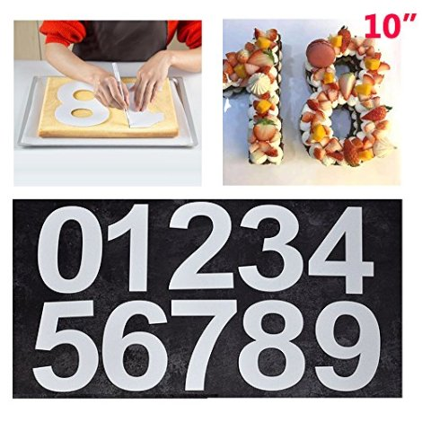 Stampo per torta grande con numeri da 0 a 9