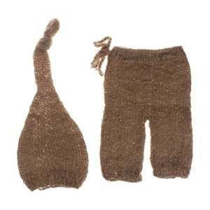 Mohair Newborn Photography Props Costumes Hat+Pants Set Baby Photo Accessories 51YIh4SCnqL