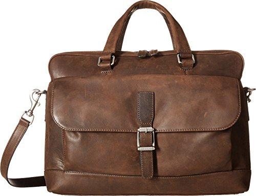 FRYE Men's Oliver 2 Top Handle Handbag, Dark Brown, One Size