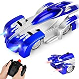 GotechoD Gravity Defying RC Car Remote Control Cars for Boys Girls Toys Wall Climbing Car Rechargeable Fast Race Car 360°Rotating Stunt Vehicle Gifts for 6-16 Year Old Boys Girls Kids Blue