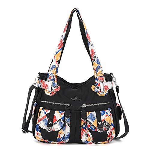 Angelkiss-Women-Top-Handle-Satchel-Handbags-Purse-Shoulder-Bag