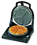 Chef'sChoice 840 WafflePro Taste/Texture Select Waffle Maker Traditional Five of Hearts Easy to Clean Nonstick Plates Temperature Recovery with 6-Setting Color Control Dial, 5-Slice, Silver