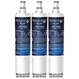 Waterdrop Plus 4396508 Refrigerator Water Filter, Compatible with Whirlpool 4396508, 4396510, NLC240V, 4392857, Kenmore 46-9010, EveryDrop Filter 5, EDR5RXD1, Reduces lead, Chlorine, NSF 401, 3 Pack