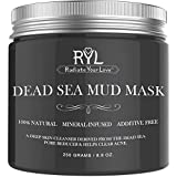 Radiate Your Love Dead Sea Mud Mask for Face, Natural Blackhead Remover and Deep Skin Cleanser, Clears Acne, Reduces Pores and Wrinkles