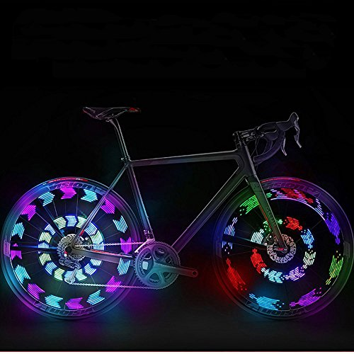 GOWEII 2 Pack New Design Colorful And Bright LED Bicycle Spoke Lights for Bike Wheels Decoration (Type#1(Two Pieces))
