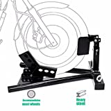 onestops8 Motorcycle Sport Bike Front Wheel Chock Lift Stand For Auto Bike Shop Garage