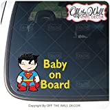 """Baby Superman""""BABY ON BOARD"""" Sign Vinyl Decal Sticker for Cars/Trucks"""