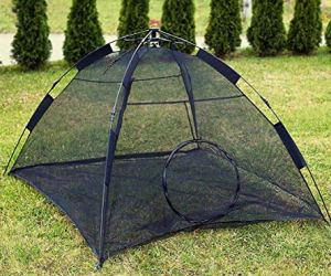 Kenley Cat Outdoor Playpen Tent - Instant Pop-Up Pet Enclosure - Safe Indoor Play House for Cats - Large Portable Outside Habitat