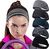 Calbeing Headband for Womens Workout Sweatband Headscarf Head wrap Hair Band