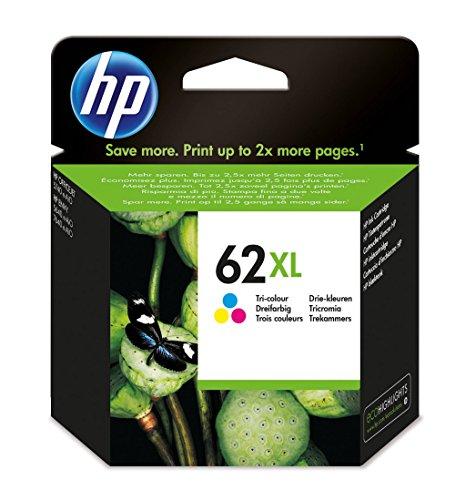 HP C2P07AE 62XL High Yield Original Ink Cartridge, Tri-color, Pack of 1
