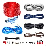BOSS Audio KIT2 8 Gauge Amplifier Installation Wiring Kit – A Car Amplifier Wiring Kit Helps You Make Connections and Brings Power to Your Radio, Subwoofers and Speakers