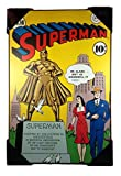 Silver Buffalo DC Comics Superman, Lois Lane and the Statue Wood Wall Art 19 x 13
