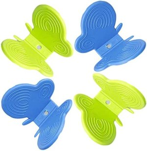 Butterfly Oven Mitts Kitchen Gadgets Plate Dish Clip Cute Pot Holders Insulation Clamp with Magnet for Heat Resistant Anti Scald Kitchen Hand Protector Tools & Appliances Random Color (4Pack)