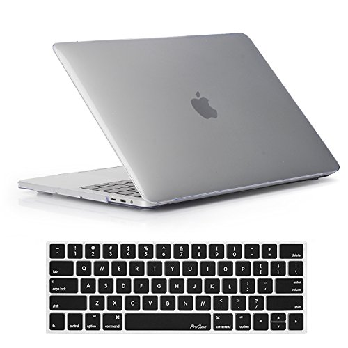 ProCase MacBook Pro 15 Case 2018 2017 2016 Release A1990/A1707, Hard Case Shell Cover and Keyboard Cover for Apple MacBook Pro 15' (2018/2017/2016) with Touch Bar and Touch ID -Crystal