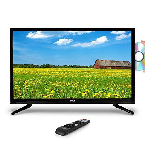 Premium 40 Inch LED TV - 40inch LED Backlight Flat Screen Television - Hi-Res 40in 1080p Ultra HD TV w/HDMI, RCA, RF Antenna DVD Player - Remote Control, VESA Wall Mount Compatible - Pyle