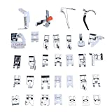 Professional Domestic 32 PCS Sewing Machine Presser Feet Set for Brother, Babylock, Singer, Janome, Elna, Toyota, New Home, Simplicity, Kenmore, and White Low Shank Sewing Machines by Stormshopping