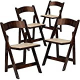 Product review for Flash Furniture 4 Pk. HERCULES Series Fruitwood Wood Folding Chair with Vinyl Padded Seat