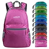 G4Free Ultra Lightweight Packable Backpack Travel Hiking Daypack Handy Foldable (Pink)