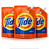 Tide Liquid Laundry Detergent Smart Pouch, Original Scent, HE Turbo Clean, Pack of three 48 oz. pouches, 93 loads (Pack of 3)