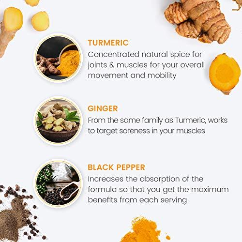 CURCUMA E PIPERINA + ZENZERO, Formula Extra-Forte 1500mg, Antinfiammatorio e Antiossidante Naturale – Dolori Articolari…