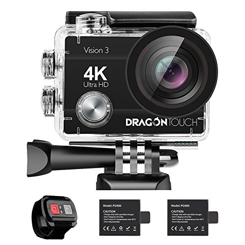 Dragon Touch 4K Action Camera 16MP Vision 3 Underwater Waterproof Camera...