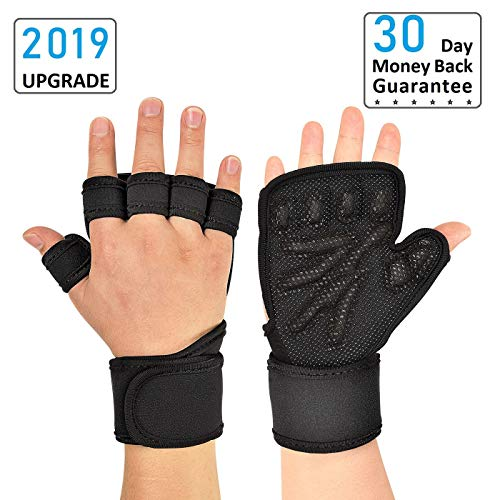 didaINT Weight Lifting Gloves Ventilated with Wrist Wraps Support, Full Palm Protection & Extra Grip, Great for Workout, Pull Ups, Crossfit, Fitness, Weightlifting, Men & Women (Small)