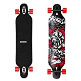 ENKEEO 40 Inch Drop-Through Longboard Skateboard Complete for Carving Downhill Cruising Freestyle Riding