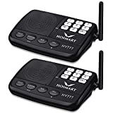 Wireless Intercom System Hosmart 1/2 Mile Long Range 7-Channel Security Wireless Intercom System for Home or Office (2018 New Version)[2 Stations Black]