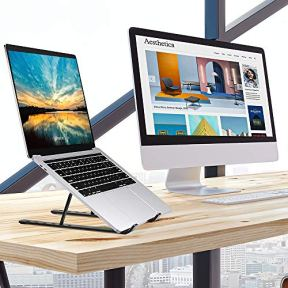 Portable-Laptop-Stand-Adjustable-Tablet-Notebook-Stand-for-iPad-MacBook-Pro-Laptop-Desk-Riser-Foldable-Notebook-Cooling-Stand-for-MacBook-Dell-Asus-Lenovo-etc--Black