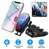 UPSTONE Car CD Player Slot Wireless Charger Phone Mount-Automatic Infrared Smart Sensing Qi 10W 7.5W Fast Wireless Charging Universal Holder for Cell Phone,Including Air Vent Cradle