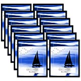 Americanflat Frames with Glass Fronts, 12 Pack-8x10, Black