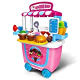 Gizmovine Ice Cream Cart Play Set, (31 pcs) Pretend Food Play Set for Kids Activity & Early Development Education