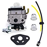 FitBest Carburetor with Fuel Line kit for Honda GX31 GX22 FG100 Little Wonder Mantis Tiller TB26TB TB475SS Troy-BILT Gas Trimmer