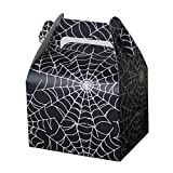 Hondex Gift Boxes 15pcs Spiderweb Portable Popcorn Candy Dessert Treat Boxes for Christmas Kids Birthday Decoration