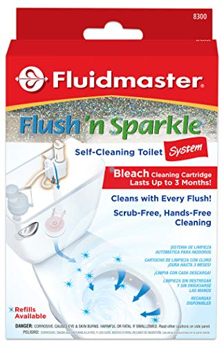 Fluidmaster 8300 Flush 'n Sparkle Automatic Toilet Bowl Cleaning System, Bleach