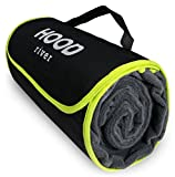 Hood River Fleece Stadium Blanket Outdoor Waterproof Windproof Soft Warm Poly Fleece Picnic Blanket XL Large 59' x 79' Self-Folding w/Handle for Tailgating Outdoor Sports Camping and Concerts