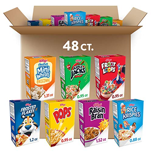 Kellogg's, Breakfast Cereal, Single-Serve Boxes, Variety Pack (48 Count)