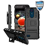 LG Aristo 3 Case, LG Aristo 2/Rebel 4 LTE/Aristo 3 Plus +/Tribute Empire&Dynasty/LG K8S/Zone 4/Aristo 2 Plus/Fortune 2/K8+/Risio 3/Phoenix 4 Case w/Screen Protector&Kickstand&Belt Clip Heavy Duty Case