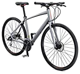 Schwinn Vantage F2 700c Sport Hybrid Road Bike with Flat Bar and Disc Brakes, 58cm/Large Frame, Matte Grey