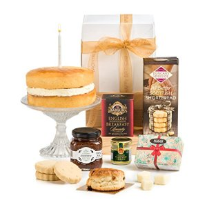 Hay Hampers- Birthday Afternoon Tea Hamper in Gift Box with Birthday Cake – No Alcohol – Free UK Delivery 51YxS08pAWL