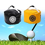 Dilwe Golf Training Bag, Swing Impact Power Smash for Golf Practice Fitness Indoor Outdoor (Black)