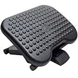 HUANUO Adjustable Under Desk Footrest - Ergonomic Foot Rest with 3 Height Position - 30 Degree Tilt Angle Adjustment for Home & Office - Non-Skid Massage Surface Texture Improves Posture & Circulation