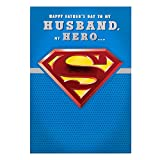 Hallmark Husband Superman Fathers Day Card My Hero - Medium