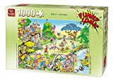 KING 5223 Funny Comics Golf Safari Jigsaw Puzzle 1000-Piece, 68 x 49 cm
