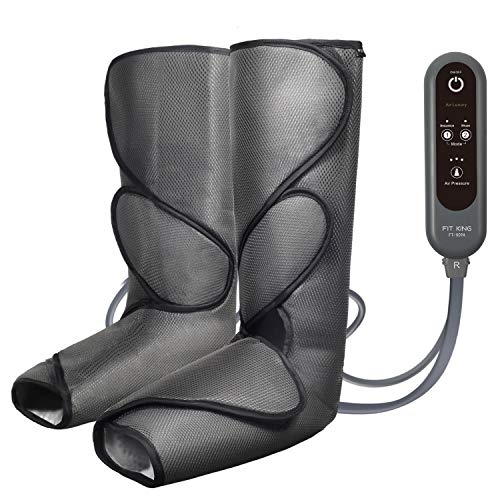 FIT KING Leg Air Massager for Circulation and Relaxation Foot and Calf Massage with Handheld...