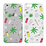Case for iPhone 7 Plus - Cream Cookies - Ultra Slim Hard Plastic Cover Case - Weed - Weed Patterm - Weed Background - Cute - Teenager - Transparent Background